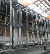 tall galvanized metal structures